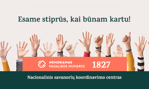 """Tūkstančius savanorių sutelkusi pilietinė iniciatyva """"Stiprūs kartu"""" – grįžta"""